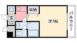 兵庫県西宮市甲子園八番町の賃貸マンションの間取り