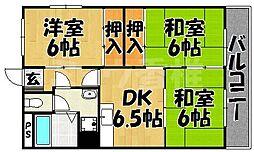福岡県福岡市東区和白5丁目の賃貸マンションの間取り
