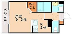 JR香椎線 伊賀駅 徒歩21分の賃貸マンション 3階1Kの間取り