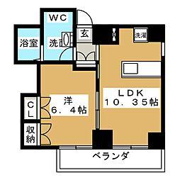 桂山サコウハイツYON[4階]の間取り