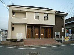 群馬県高崎市下佐野町の賃貸アパートの外観