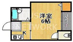 佐脇天王町ハイツ[202号室号室]の間取り