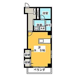 三共トラストビル[5階]の間取り