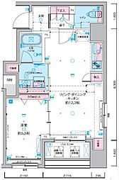 JR総武線 浅草橋駅 徒歩5分の賃貸マンション 8階1LDKの間取り