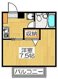 ドミール東寺[202号室]の間取り