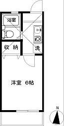 ラベンダー湘南3[203号室]の間取り
