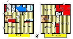 [テラスハウス] 千葉県柏市船戸2丁目 の賃貸【/】の間取り
