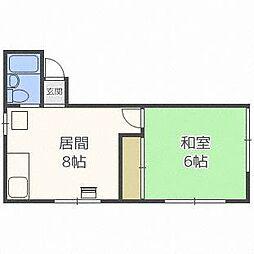 コーポ古木[2階]の間取り