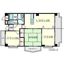 ラヴィスタ東豊中 3階3LDKの間取り