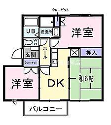 岡山県倉敷市児島稗田町丁目なしの賃貸マンションの間取り