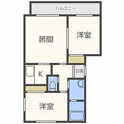 サンステージ410[2階]の間取り