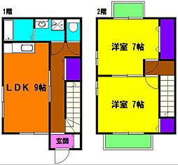 [テラスハウス] 静岡県浜松市南区西伝寺町 の賃貸【/】の間取り