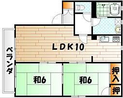 P−ARK曽根 E棟[1階]の間取り