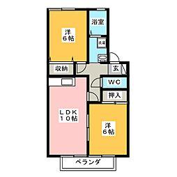 パストラルC[1階]の間取り
