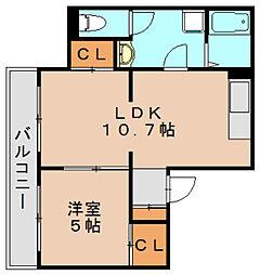 麻生コーポ2[2階]の間取り