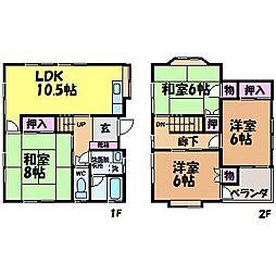 [一戸建] 愛媛県松山市来住町 の賃貸【愛媛県 / 松山市】の間取り
