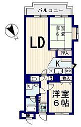 サンライト西新宿[4階]の間取り