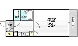 リーガル新大阪III 10階1Kの間取り