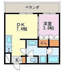 diciotto ATSUTA[2階]の間取り