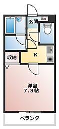 ボーンブン[1階]の間取り