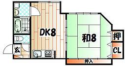 実渕中央ビル[4階]の間取り