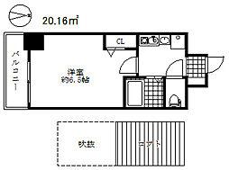 エステムコート神戸県庁前3フィエルテ[6階]の間取り