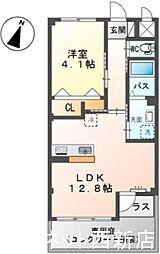 福岡市地下鉄七隈線 次郎丸駅 徒歩14分の賃貸マンション 1階1LDKの間取り