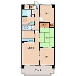 HIRATA WEST[2階]の間取り