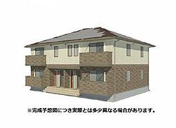 愛媛県松山市山西町の賃貸アパートの外観