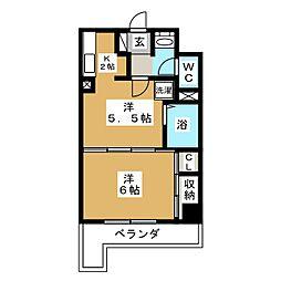 平和マンション北仙台[6階]の間取り