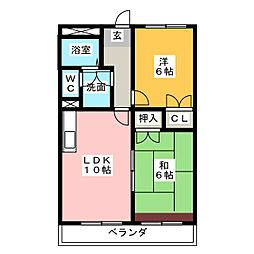 メゾンフロント2[2階]の間取り