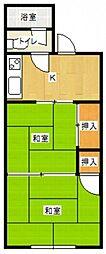 立花コーポ[1階]の間取り