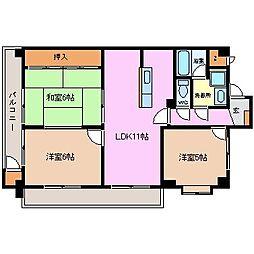 JINハイツ富田浜[4B号室]の間取り