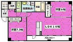 広島県広島市安佐南区長束1丁目の賃貸アパートの間取り