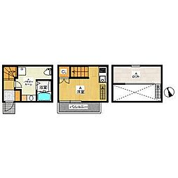 トリスアパートメント[2階]の間取り