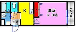 プレミアージュ住道[1階]の間取り