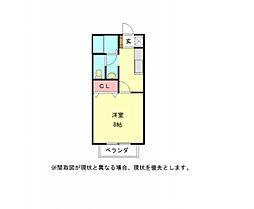 愛知県一宮市冨田字立石の賃貸アパートの間取り