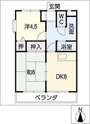 S・Kマンション[2階]の間取り