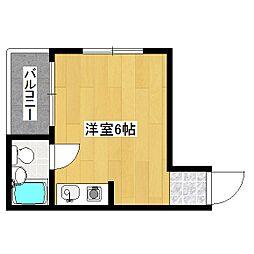 コーポ平良[3階]の間取り