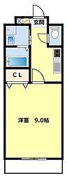 愛知県豊田市栄町5丁目の賃貸アパートの間取り
