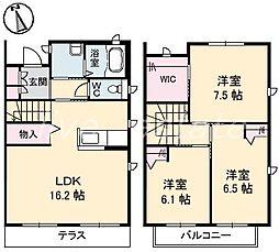 [タウンハウス] 香川県高松市林町 の賃貸【/】の間取り