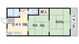 泉佐野グリーンハイツ[107号室]の間取り