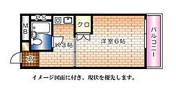 EFT−牛田新町[403号室]の間取り