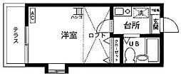 埼玉県さいたま市中央区大戸2丁目の賃貸アパートの間取り