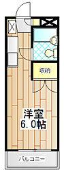サンビレッヂ町田[102号室]の間取り