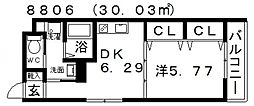 FStyle上田2号館(エフスタイル上田2号館)[205号室号室]の間取り