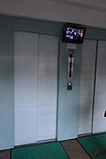 防犯カメラ付きエレベーター