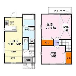 [テラスハウス] 滋賀県守山市立入町 の賃貸【/】の間取り