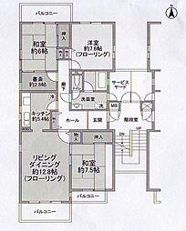 金沢シーサイドタウン[2階]の間取り