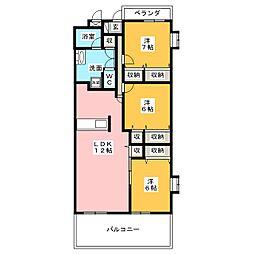 アネーロ[3階]の間取り